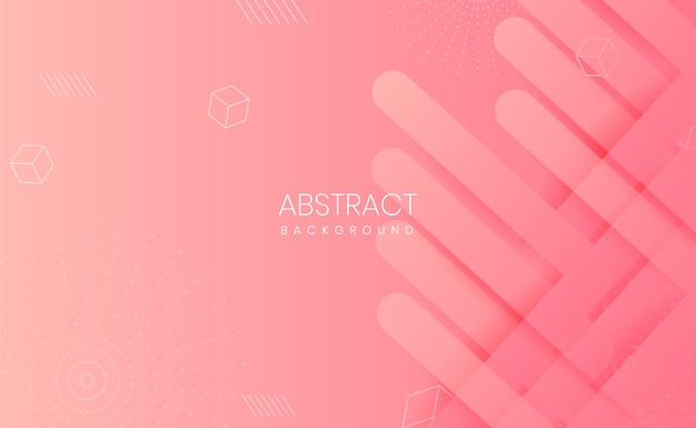 Fundo gradiente abstrato rosa claro moderno Vetor Premium
