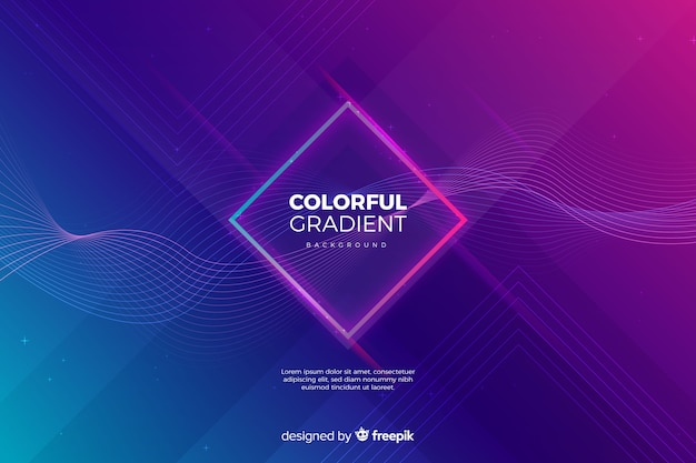 Fundo gradiente colorido Vetor grátis