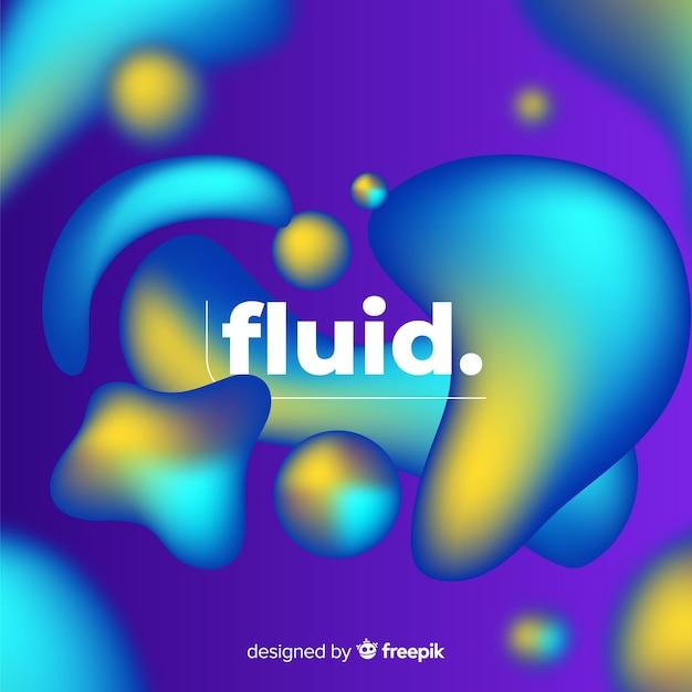 Fundo gradiente com formas fluidas 3d Vetor grátis