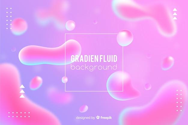 Fundo gradiente com formas fluidas Vetor grátis