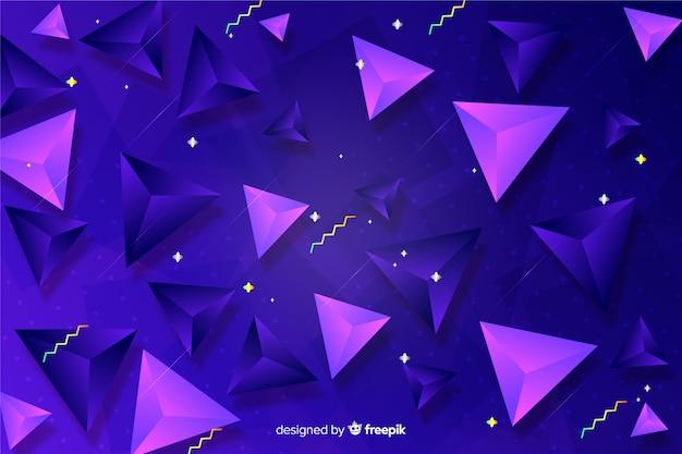 Fundo gradiente com formas tridimensionais Vetor grátis