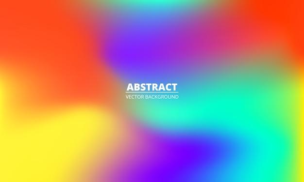 Fundo gradiente de arco-íris colorido líquido abstrato. textura minimalista criativa holográfica multicolorida brilhante. Vetor Premium