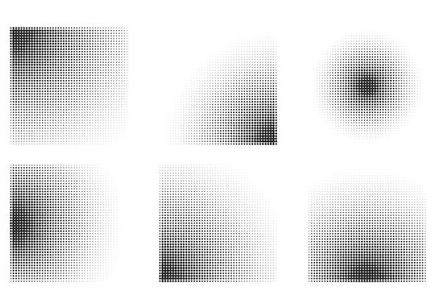 Fundo gradiente de meio-tom com formato quadrado Vetor grátis