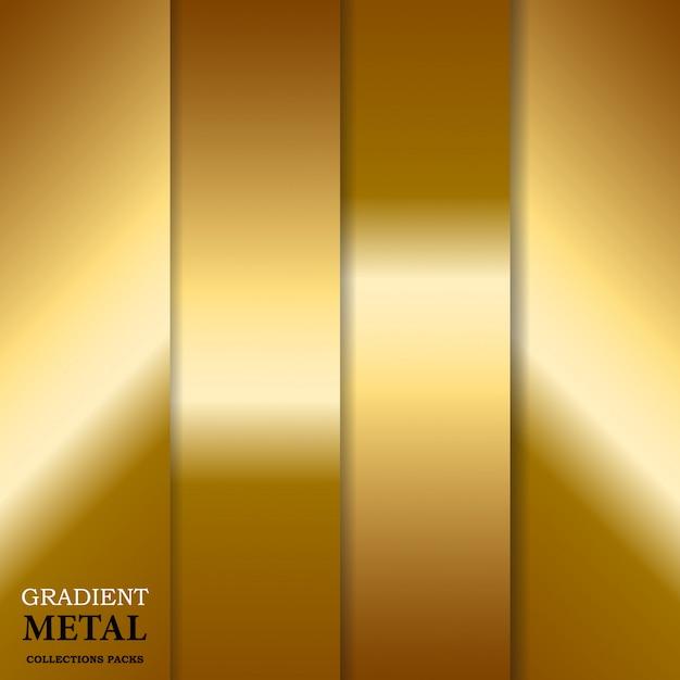 Fundo gradiente de metal dourado Vetor Premium