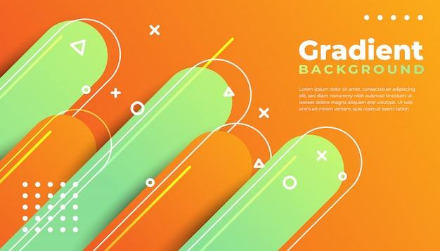 Fundo gradiente forma geométrica Vetor Premium