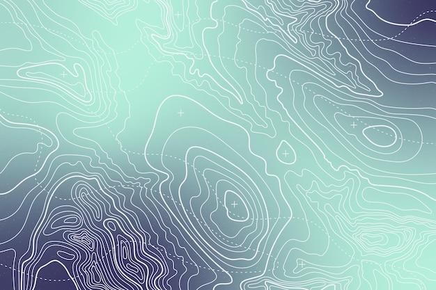 Fundo gradiente mapa topográfico Vetor Premium