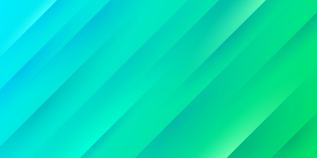 Fundo gradiente moderno de azul e verde claro com textura e linhas de listras diagonais. Vetor Premium