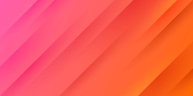 Fundo gradiente rosa e laranja vermelho claro moderno com listras diagonais e textura. Vetor Premium