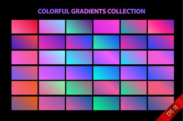 Fundo gradiente suave colorido Vetor Premium