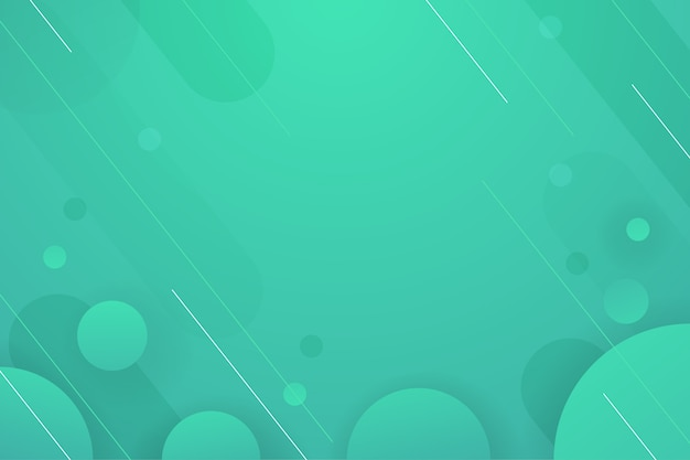 Fundo gradiente tons de verde fundo Vetor Premium