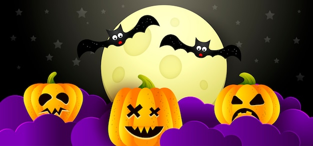Fundo halloween Vetor Premium