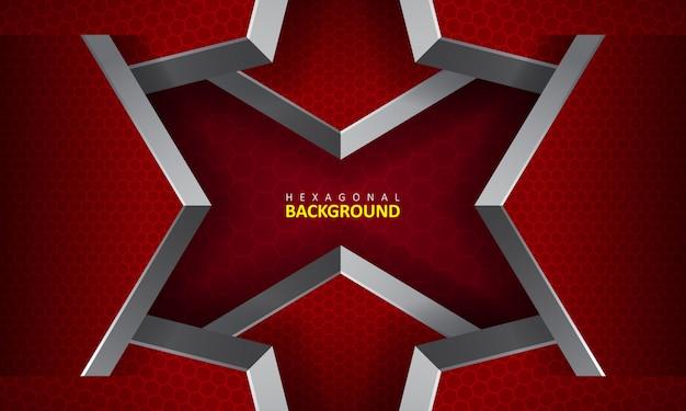 Fundo hexagonal de forma geométrica abstrata Vetor Premium
