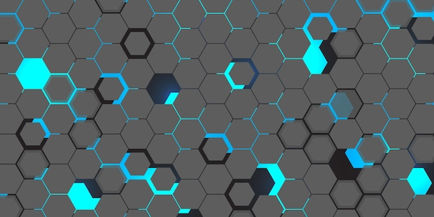 Fundo hexagonal de tecnologia Vetor grátis