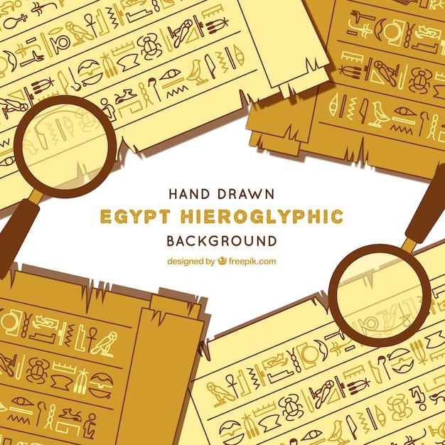 Fundo hieróglifo do egito Vetor grátis