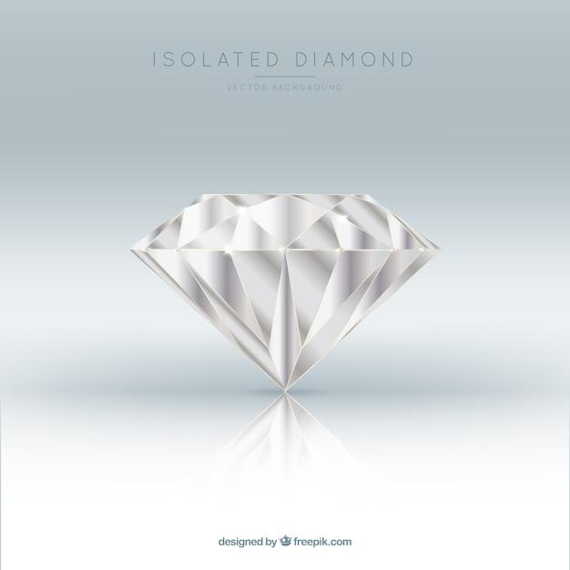 Fundo impressionante de diamante realista Vetor grátis