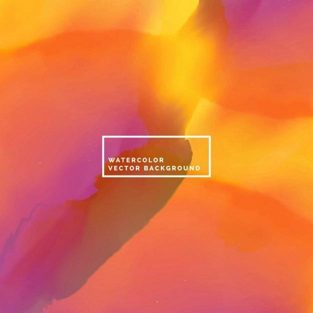 Fundo incrível aquarela em tons de laranja e roxo  8ce09f6383cbd