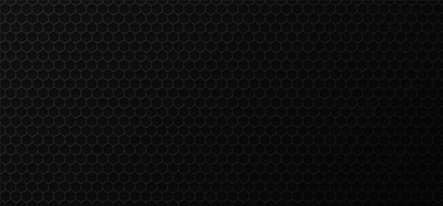 Fundo industrial do favo de mel preto. Vetor Premium