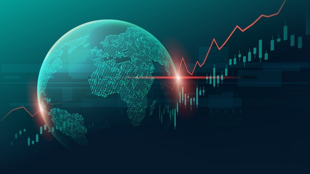 Fundo infográfico global Vetor Premium