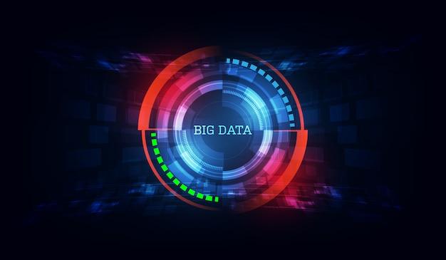 Fundo inovador de big data de tecnologia Vetor Premium