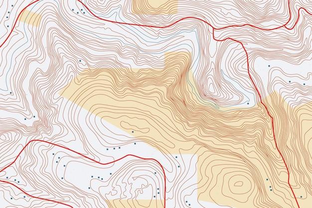 Fundo interessante do mapa topográfico Vetor grátis