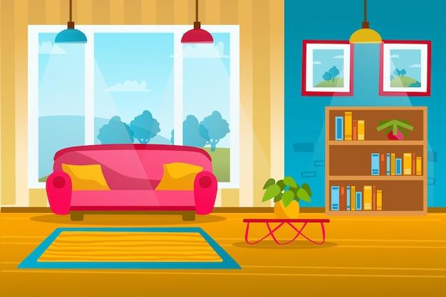 Fundo interior de casa para videoconferência Vetor grátis