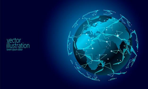 Fundo internacional de criptomoeda blockchain de troca de informações de conexão internacional Vetor Premium