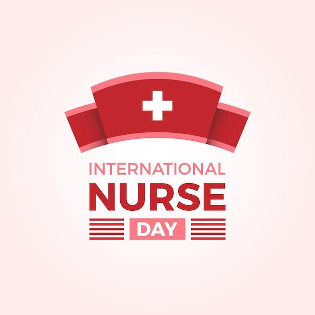 Fundo internacional do dia da enfermeira Vetor grátis