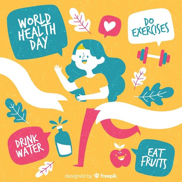 Fundo internacional do dia da saúde Vetor grátis