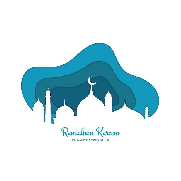 Fundo islâmico de ramadã Vetor Premium