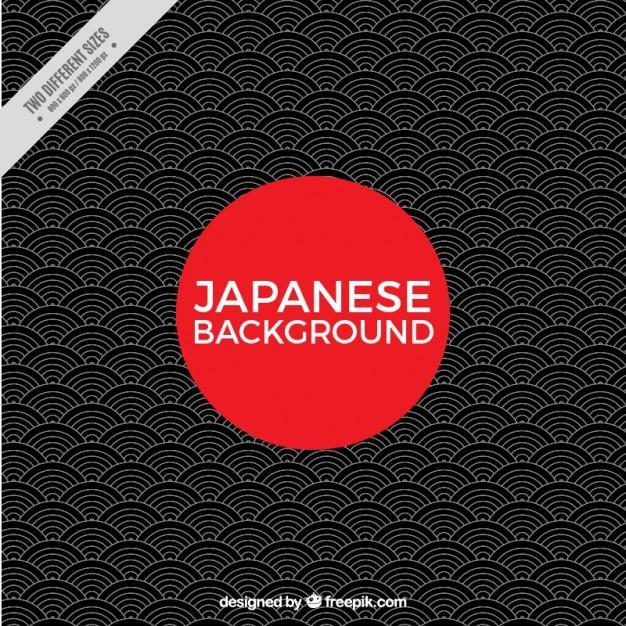 Fundo japonês geometric Vetor grátis