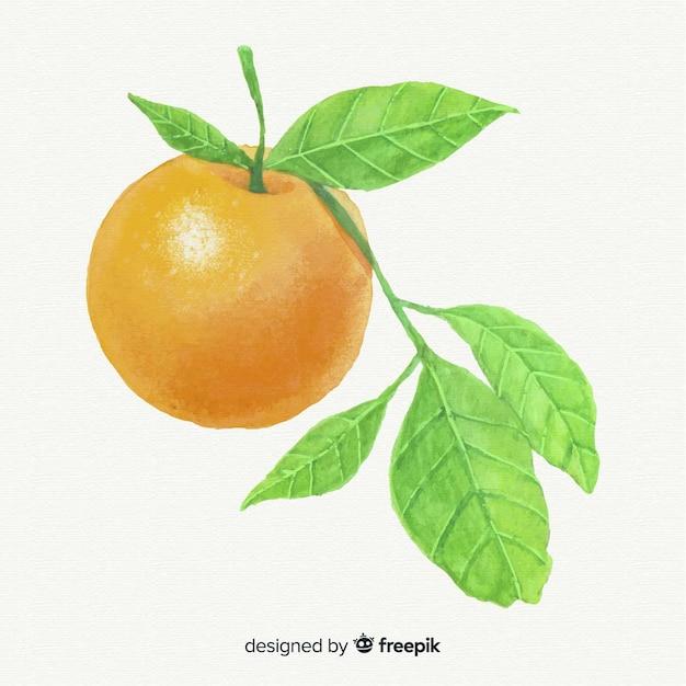 Fundo laranja aquarela Vetor grátis