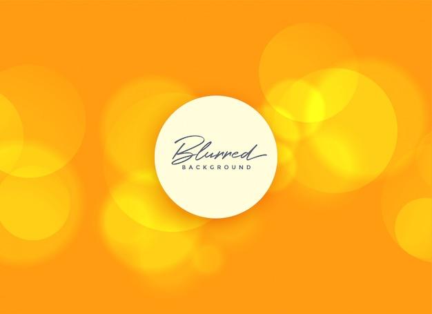 Fundo laranja com luzes de bokeh turva Vetor grátis