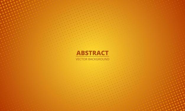 Fundo laranja gradiente de meio-tom abstrato. pano de fundo desfocado laranja do estilo dos desenhos animados. Vetor Premium