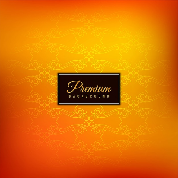 Fundo laranja premium elegante bonito Vetor grátis