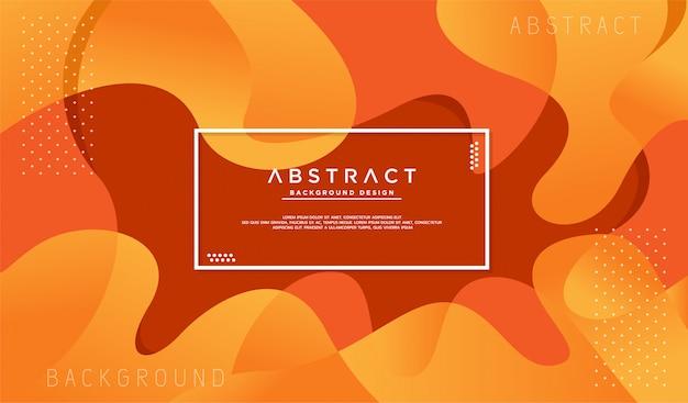 Fundo laranja texturizado dinâmico Vetor Premium
