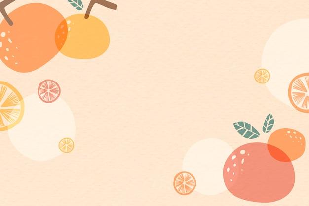 Fundo laranja verão Vetor grátis