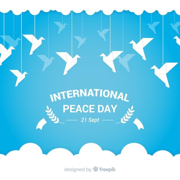 Fundo lindo dia da paz Vetor grátis