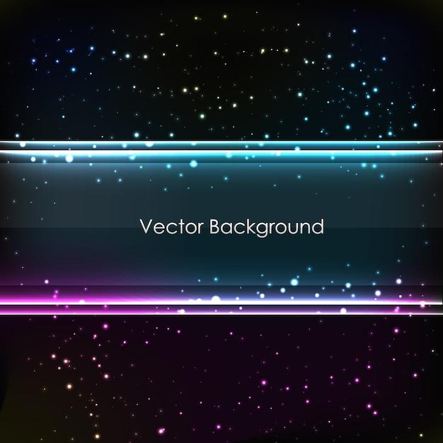 Fundo linear abstrato para design com muitos pontos e linhas brilhantes Vetor grátis