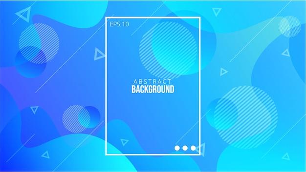 Fundo líquido abstrato azul Vetor Premium