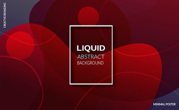 Fundo líquido de cor vermelha. cartazes de design futurista. Vetor grátis