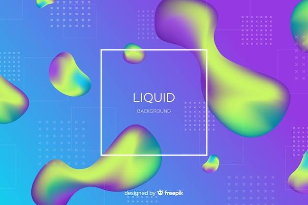 Fundo líquido duotônico de gradiente Vetor grátis