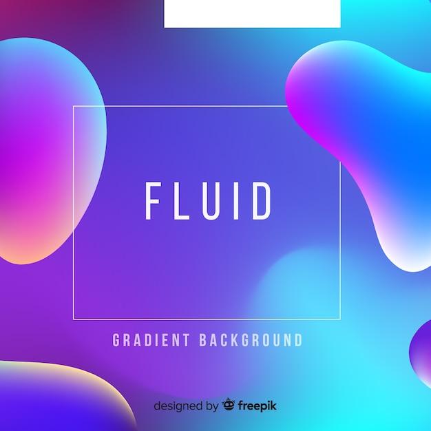 Fundo líquido gradiente Vetor grátis