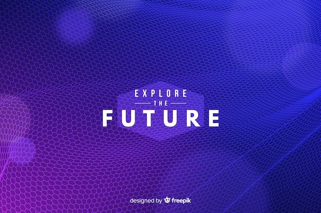 Fundo líquido hexagonal futurista Vetor grátis