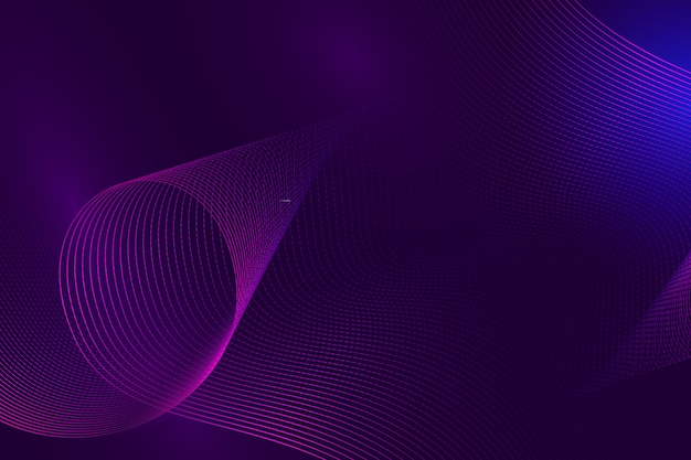 Fundo líquido ondulado violeta gradiente elegante Vetor grátis