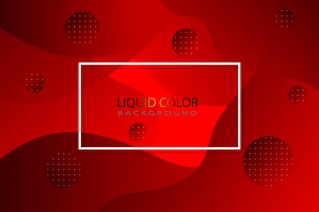 Fundo líquido vermelho Vetor Premium