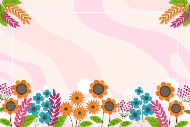Fundo liso colorido da primavera Vetor grátis