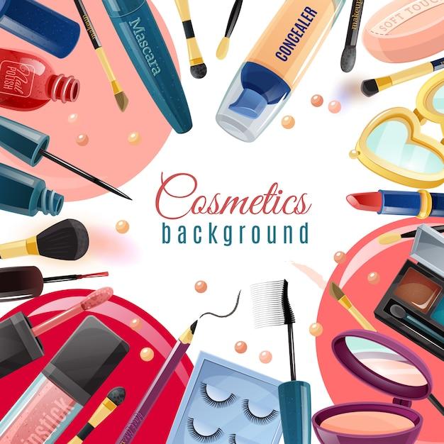 Fundo liso de cosméticos Vetor grátis