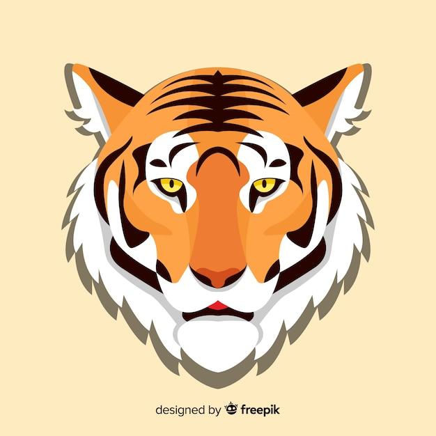 Fundo liso tigre Vetor grátis