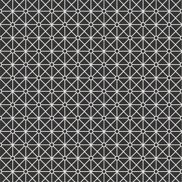 Fundo listra linha padrão textura preto e branco Vetor Premium