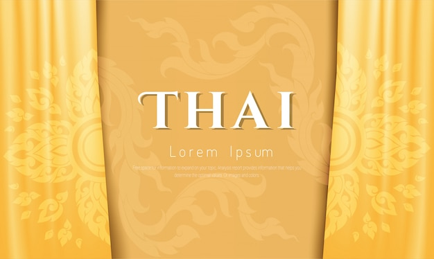 Fundo luxuoso, conceito tradicional tailandês. Vetor Premium